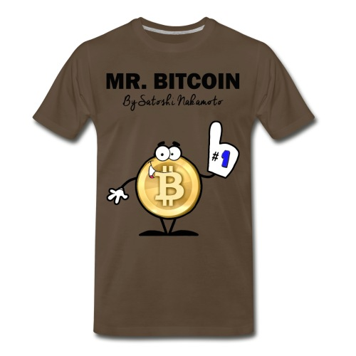 Mr. Bitcoin - Men's Premium T-Shirt