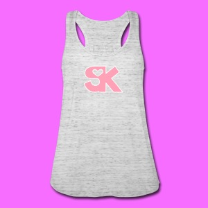 Pink/White SK Women's Tank Hacked By @TrippyZero - Women's Flowy Tank Top by Bella