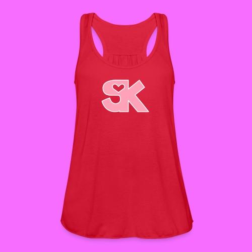 Pink/White SK Women's Tank Hacked By @TrippyZero - Women's Flowy Tank Top by Bella