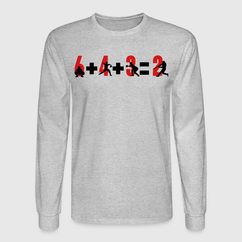 Baseball 6+4+3=2 double play Long Sleeve Shirts - Men's Long Sleeve T-Shirt