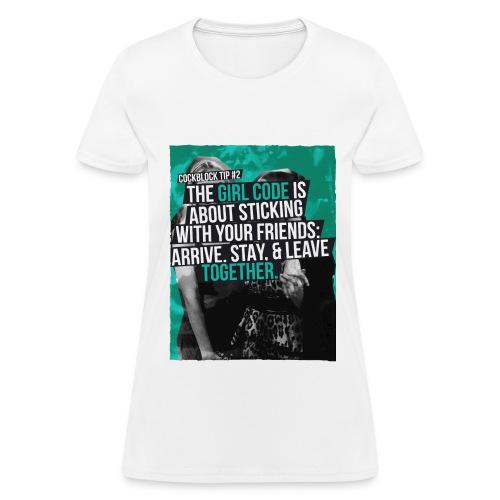 Cock Block Tip TShirt - Women's T-Shirt