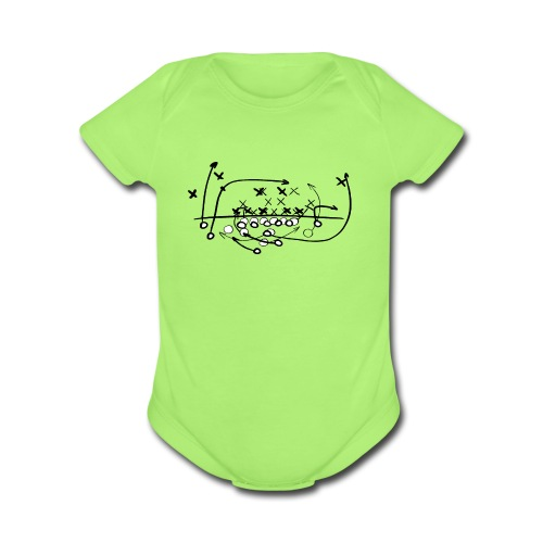 Football Soccer strategy - Organic Short Sleeve Baby Bodysuit