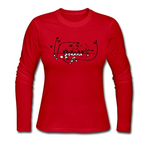 Football Soccer strategy - Women's Long Sleeve Jersey T-Shirt