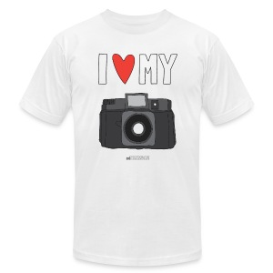 Camera Love - Film - Grey Logo - Men's T-Shirt by American Apparel