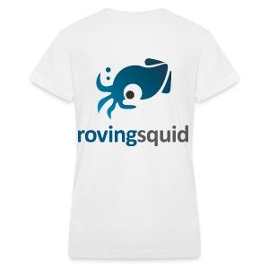 Roving Squid Women's Logo T-shirt - Women's V-Neck T-Shirt
