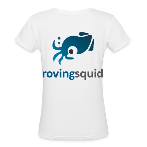 Roving Squid Women's Logo T-shirt - Women's V-Neck T-Shirt