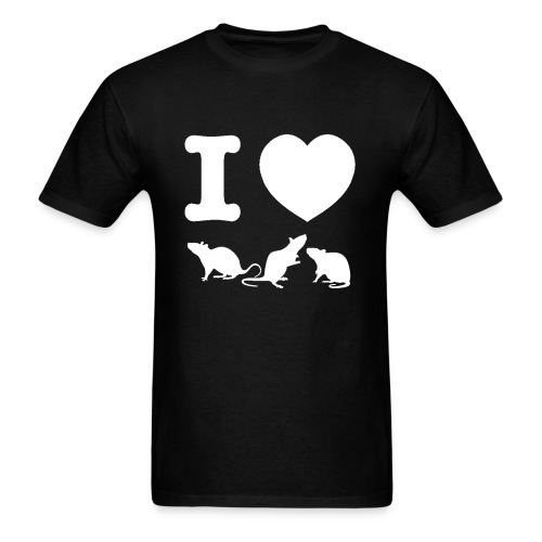 I Love Rats T-Shirt - Men's T-Shirt