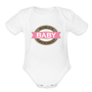Baby & Toddler Shirts ~ Baby Short Sleeve One Piece ~ Baby Girl one piece t-shirt (Worlds awesomest)