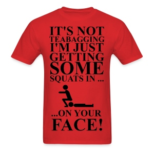 Getting Some Squats In Men's Tee - Men's T-Shirt