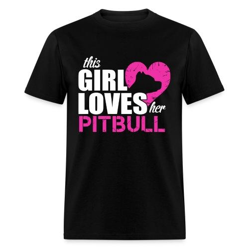 This Girl Loves her Pit Bull tee - Men's T-Shirt