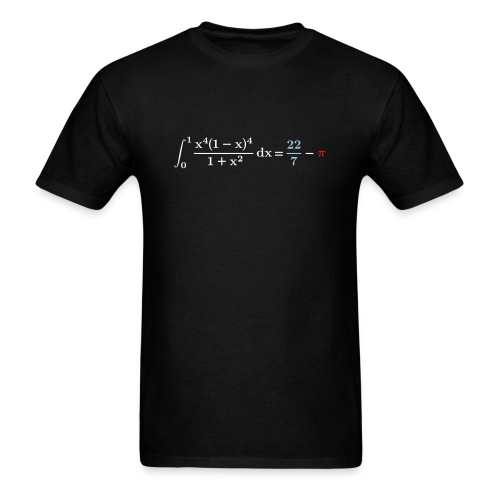 22/7-pi integral - Men's T-Shirt