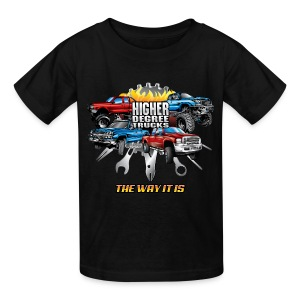 Higher Degree Trucks FRONT - Kids' T-Shirt