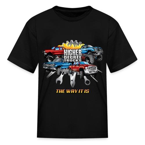 Higher Degree Trucks FRONT - Kids' T-Shirt