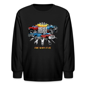 Higher Degree Trucks FRONT - Kids' Long Sleeve T-Shirt