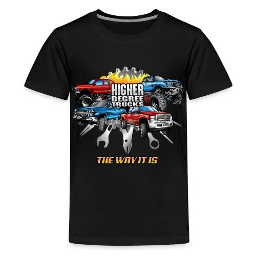 Higher Degree Trucks Front - Kids' Premium T-Shirt