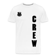 T-Shirts ~ Men's Premium T-Shirt ~ MFX CREW - CML BLACK ON WHITE