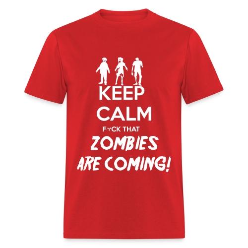 Keep Calm Zombies - Men's T-Shirt