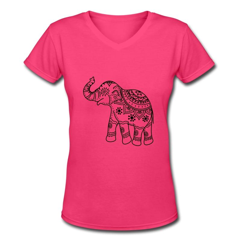Idian elephant t shirt spreadshirt for Elephant t shirt women s