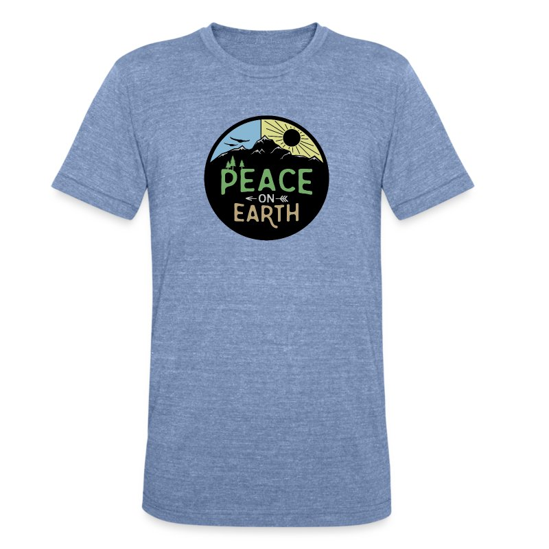 Peace on Earth - Unisex Tri-Blend T-Shirt by American Apparel