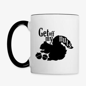 Get Off My Nuts - Contrast Coffee Mug