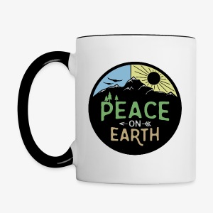 Peace on Earth - Contrast Coffee Mug