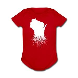 Wisconsin Roots - Short Sleeve Baby Bodysuit