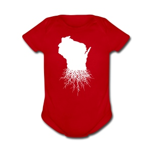 Wisconsin Roots - Short Sleeve Baby Bodysuit