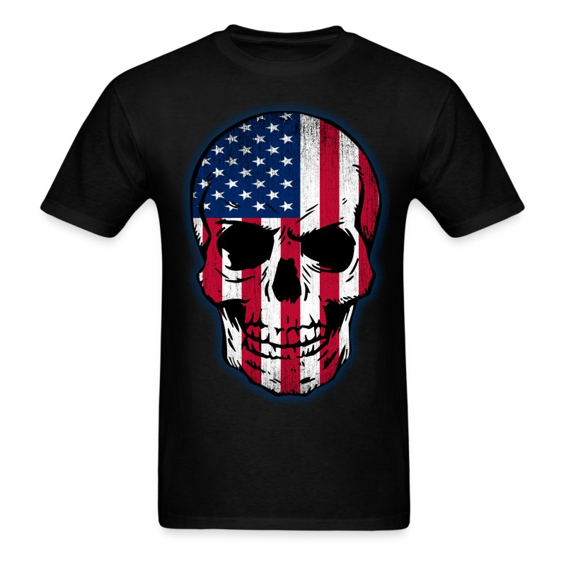 Vintage Usa Flag Skull Design T Shirt Spreadshirt