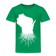 Baby & Toddler Shirts ~ Toddler Premium T-Shirt ~ Wisconsin Roots