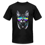 T-Shirts ~ Men's T-Shirt by American Apparel ~ Psychedelic Kitty