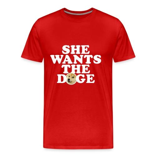 Men's She Wants the Doge T-Shirt - Men's Premium T-Shirt