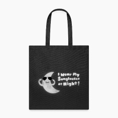 Funny Moon - I Wear My Sunglasses At Night Bags & backpacks