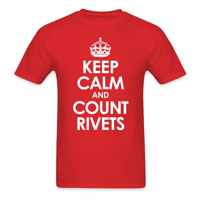 Keep Calm and Count Rivets t-shirt