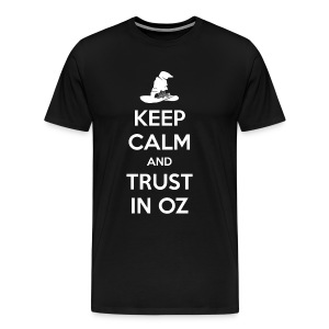 Keep Calm Oz - Black - Men's Premium T-Shirt