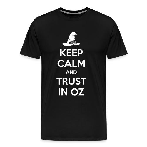 Keep Calm Oz - Black - Men's Premium T-Shirt