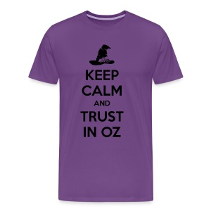 Keep Calm Oz - Purple/Black - Men's Premium T-Shirt