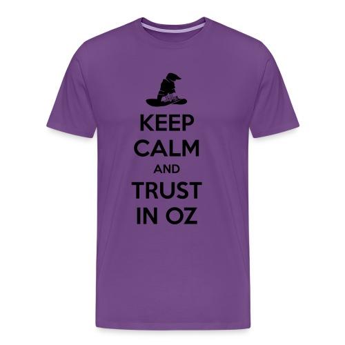 Keep Calm Oz - Purple/Black - Men's Premium T-Shirt