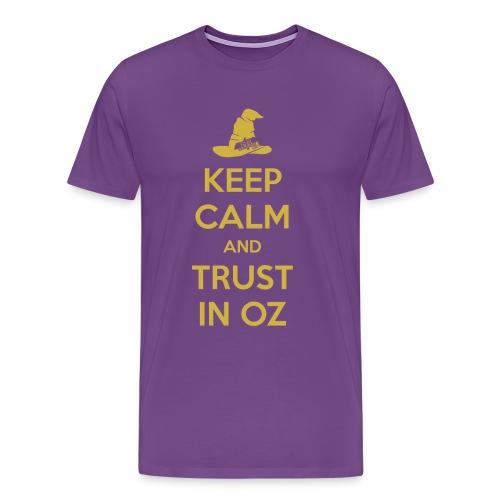 Keep Calm Oz - Purple/Yellow - Men's Premium T-Shirt