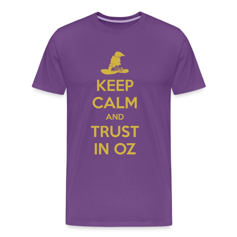 Keep Calm Oz - Purple/Yellow - Men's Premium T-Shirt