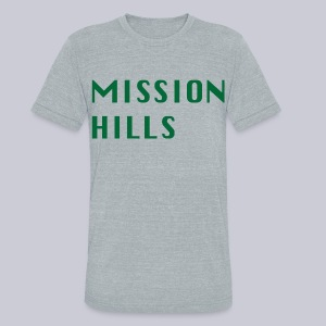 Mission Hills - Unisex Tri-Blend T-Shirt by American Apparel