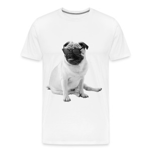 The Shady Pug (B&W) - Men's Premium T-Shirt