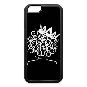 Curly girl with a crown - iPhone 6/6s Rubber Case