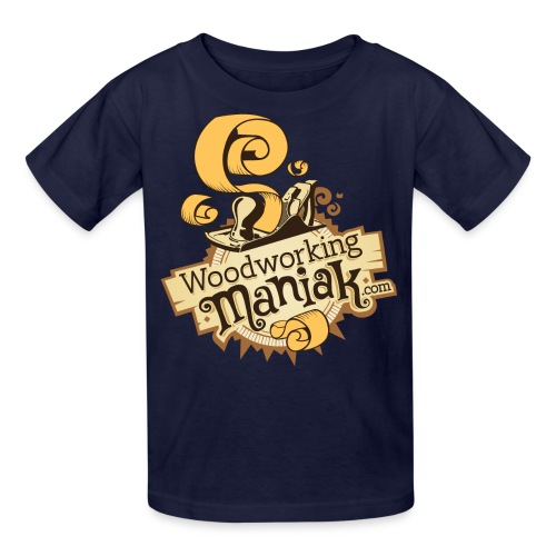 WoodworkingManiak_logo-1-LARGE.png - Kids' T-Shirt
