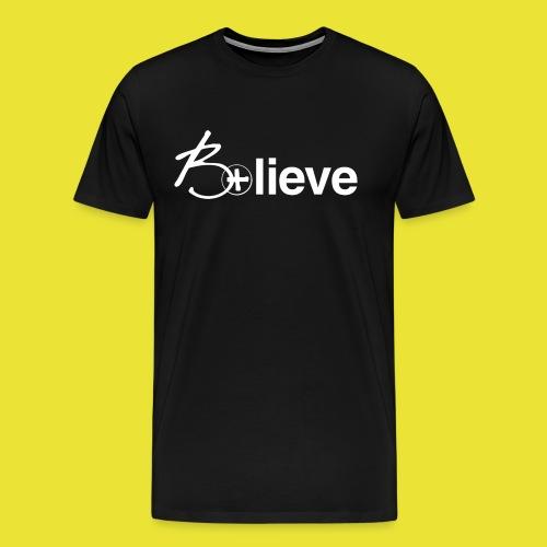 B+lieve (men white) - Men's Premium T-Shirt