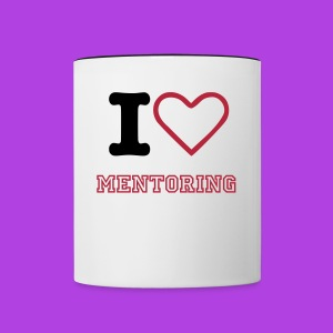 I Love Mentoring Cup Pink - Contrast Coffee Mug