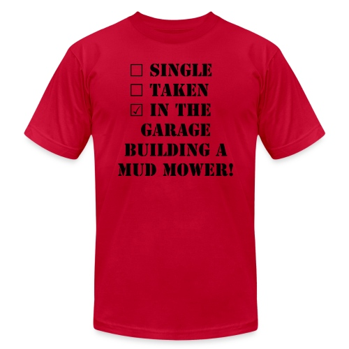 Single taken in the Garage Mud Mower  - Men's Fine Jersey T-Shirt