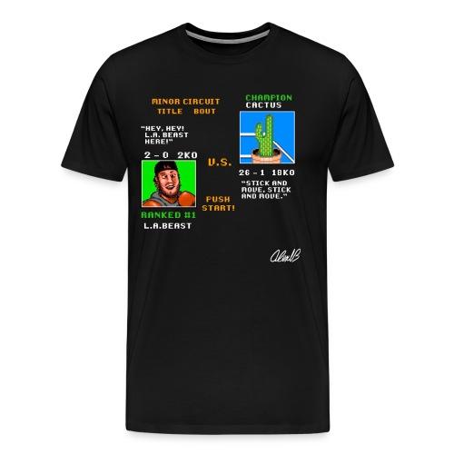 Beast vs. Cactus - Men's Premium T-Shirt
