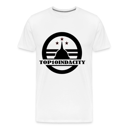 MEN'S TOP10INDACITY LOGO T-SHIRT - Men's Premium T-Shirt