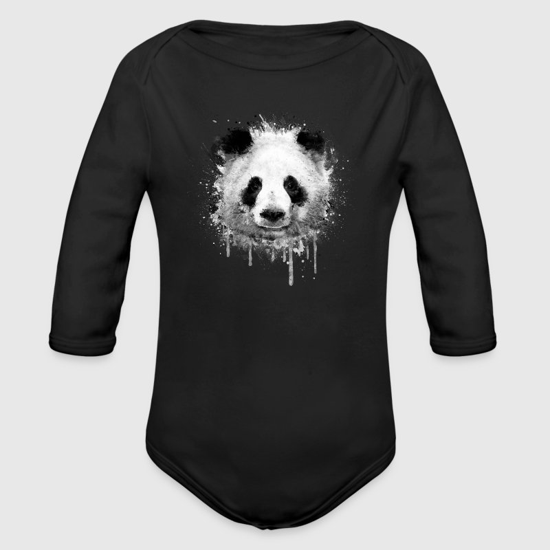 Cool Artistic Panda Portrait (watercolor design) Baby & Toddler Shirts - Long Sleeve Baby Bodysuit