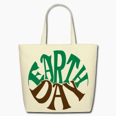 Earth Day Groovy, 2 Color Vector Bags & backpacks